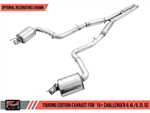 AWE Tuning Touring Edition Catback Exhaust w/ Stock Tips 2015-2020 392/6.4L/6.2L Challenger