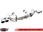 AWE Tuning Touring Catback Exhaust w/ Chrome Tips 2020 6.2L Corvette C8