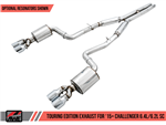 AWE Tuning Touring Edition Catback Exhaust w/ Black Tips 2015-2020 392/6.4L/6.2L Challenger