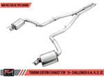 AWE Tuning Touring Edition Catback Exhaust w/ Stock Tips w/o Resonators 2015-2020 392/6.4L/6.2L Challenger