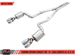 AWE Tuning Touring Edition Catback Exhaust w/ Diamond Black Tips w/o Resonators 2015-2020 392/6.4L/6.2L Challenger