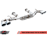 AWE Tuning Track Catback Exhaust w/ Diamond Black Tips 2020 6.2L Corvette C8