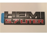Black and Red 5.7L HEMI Fender Emblem