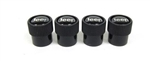 Jeep Black Valve Stem Caps (Set of 4)