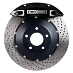 StopTech 6 Piston Front Big Brake Kit w/ Black Calipers 05-15 Challenger, Charger, 300, Magnum Scat Pack R/T, SRT8, SRT 392