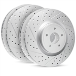 R1 Concepts Geomet Drilled and Slotted Rotors 2005-2017 6.1L/392/6.4L Challenger/Charger/300/Magnum