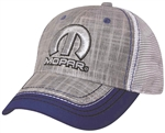 Mopar Logo Gray & Purple Linen Women's Hat