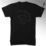 Mens Dodge SRT Hellcat Blackout T-Shirt