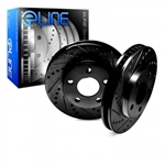 R1 Concepts eLine Black Series Drilled and Slotted Front Rotors 05-14 Challenger, Charger, Magnum, 300 6.1L, 6.4L, 392