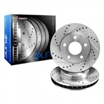 R1 Concepts eLine Drilled & Slotted Front Rotors 05-15 Challenger, Charger, 300, Magnum 3.6L, 5.7L w/ Vented Rear Rotors