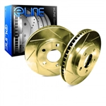 R1 Concepts eLine Gold Edition Slotted Rear Rotors 05-14 Challenger, Charger, Magnum, 300 6.1L, 6.4L, 392