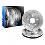 R1 Concepts eLine Drilled Front Rotors 05-15 Challenger, Charger, 300, Magnum 3.6L, 5.7L w/ Vented Rear Rotors