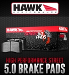 Hawk High Performance Street 5.0 Front Brake Pads 05-14 Challenger, Charger, 300, Magnum (V6, R/T)