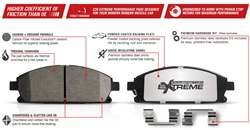 Power Stop Z26 Extreme Performance Carbon-Ceramic Front Brake Pads 2015-2019 6.2L Challenger/Charger 6-Piston Brembo