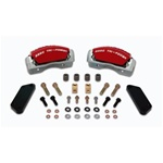 Stainless Steel Brakes Front Quick Change Red Anodized 3 Piston Caliper Upgrade Kit 05-11 300, Challenger, Charger, Magnum 5.7L