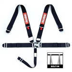 "RaceQuip Latch & Link 3"" Harness Set (Black)"