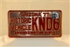 Vintage copper license plate