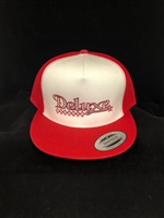 High Crown Canvas Deluxe Trucker Hats (red)