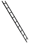Breaching Solid Ladder 9' / 3m