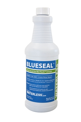 BlueSeal odor sealant for waterless urinals.