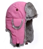Supplex Bomber Pink with Gray Rabbit Fur