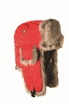 Lil' Supplex Mad Bomber Red with Grey Rabbit Fur