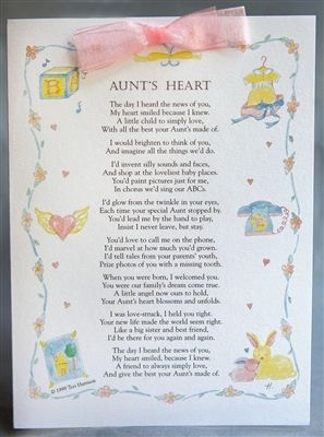 Aunt Card For New Niece Or Nephew