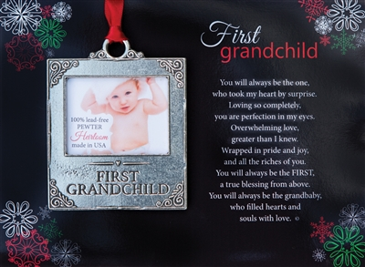 First Grandchild Christmas Photo Ornament