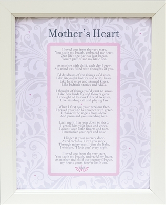 Mother's Heart Poem Frame