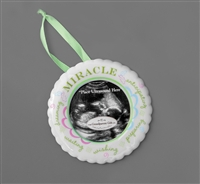 Baby Ultrasound Christmas Ornament: Miracle