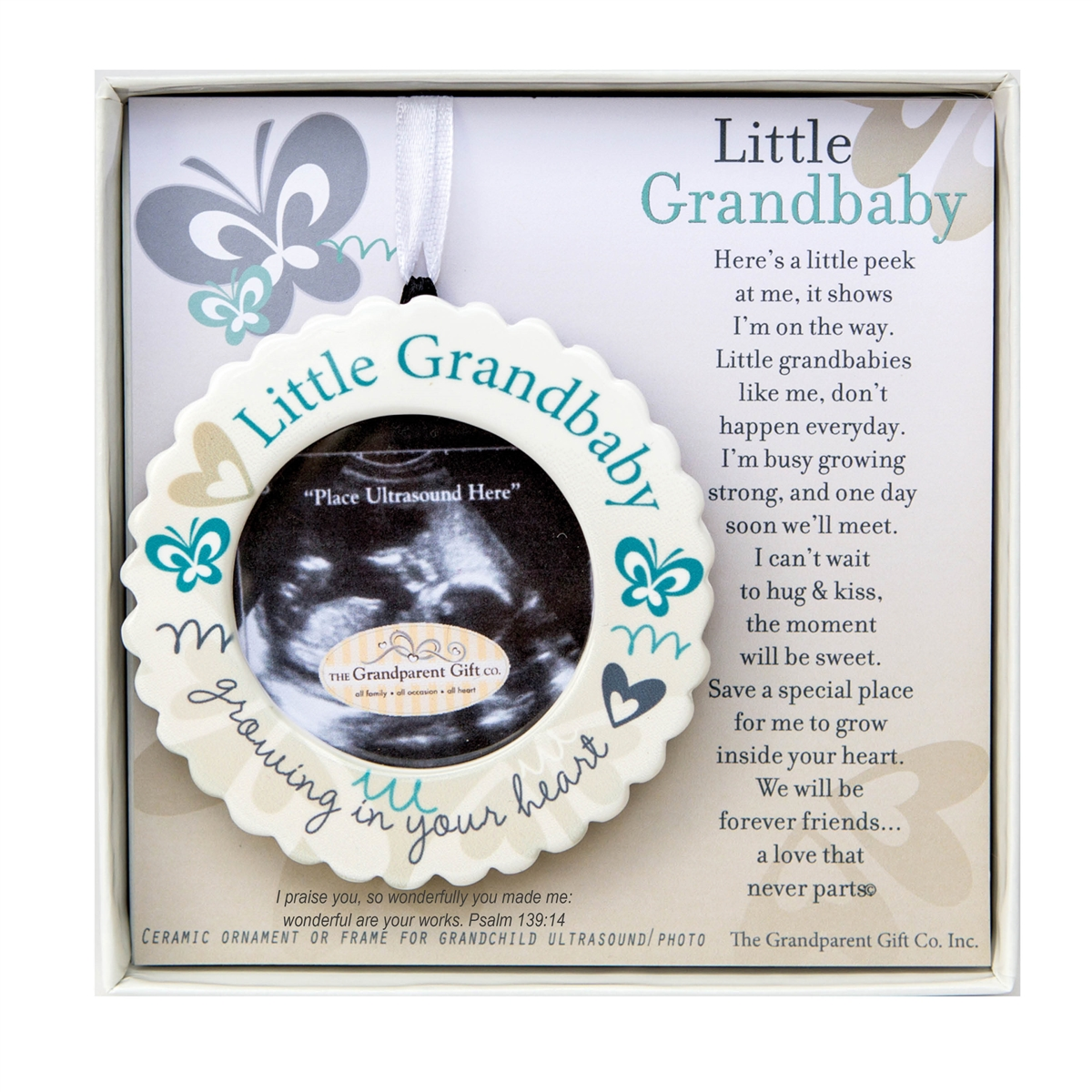 Baby Gifts For New Grandparents : Grandparent ultrasound ornament