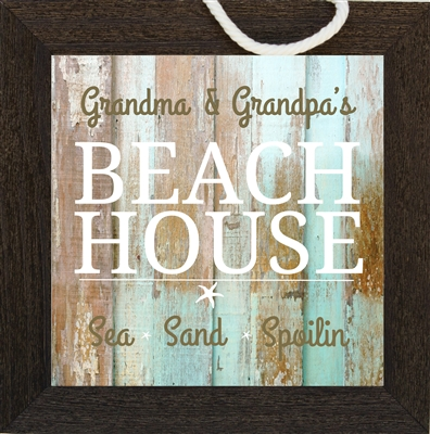 Grandma and Grandpa Beach House Sign