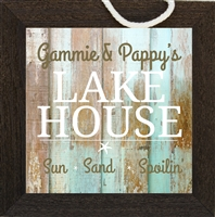 Grandma and Grandpa Beach House Sign-Personalized