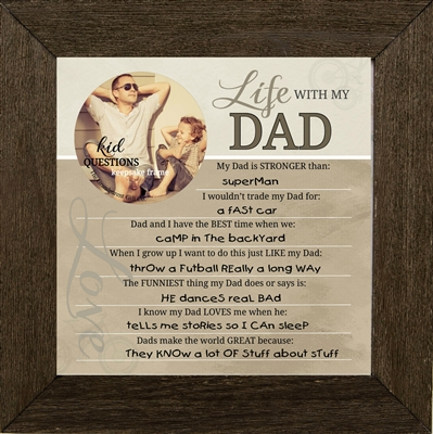 Kid Question Frame for Dad