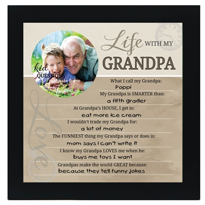 Kid Question Frame for Grandpa