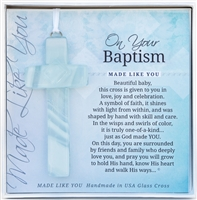 Baptism Glass Cross