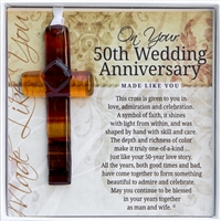 50th Anniversary Glass Cross