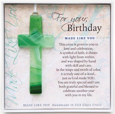 Birthday Glass Cross
