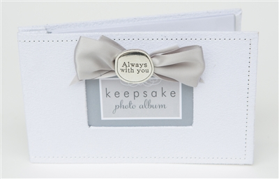 Memorial Photo Album with Pewter Coin Accent