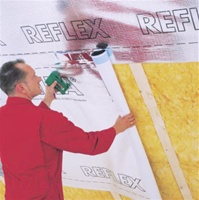 DELTA®-REFLEX is completely impermeable to water vapor. This highly effective barrier stops any vapor diffusion and thus helps to prevent wetting and damage of thermal insulation and the building enclosure throughout the lifetime of the structure.
