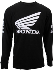 MENS HONDA SPONSOR WING LONG SLEEVE TEE - 2XL