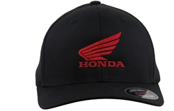 Honda Curved Bill Flex Fit Black Hat