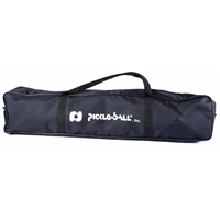 Durable black nylon 3.0 Net System Replacement Bag featuring the Pickleball, Inc. logo and convenient carrying straps.