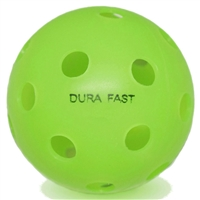 Dura Fast Indoor Pickleballs available in white, yellow, or orange.