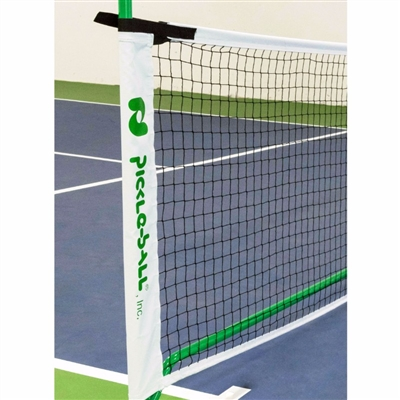 3.0 Net System  - Replacement Pickleball Net is black accented by white trim and the Pickleball, Inc. logo in green.