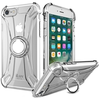 iLuv AI8CRING iPhone 8/iPhone 7 Anti-shock Flexible Clear Case w/Ring