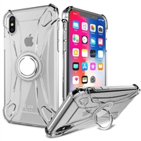 iLuv AIXCRING Anti-Shock Flexible Clear Case for iPhone X