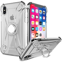 iLuv AIXLCRING Anti-shock Flexible Clear Case W/Crystal Ring for iPhone XR