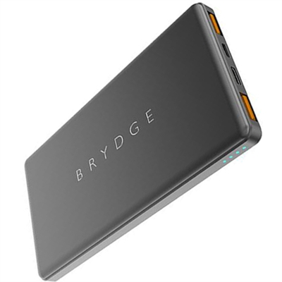 Brydge 10,000 mAh Portable Battery w/USB-A, USB-C & Quick Charge