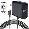 iLuv IAD545CULBK 45W USB Type-C Faster AC Adapter with 6ft Cable